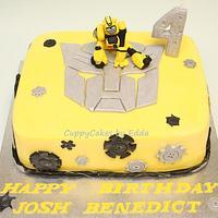 bumblebee transformer cake