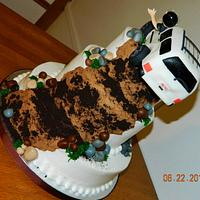 Three tier JEEP cake