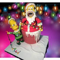 Sweet Christmas Collaboration - 'Elf' Bart Simpson lighting up Christmas
