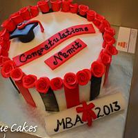 Graduation Cake w/ roses