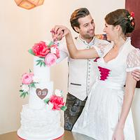 Wedding cake for a traditional mountain wedding in Austria