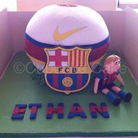 Barcelona Football Cake  by Gemma Deal