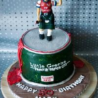 Scottish Arsenal Supporter's 50th Birthday Cake
