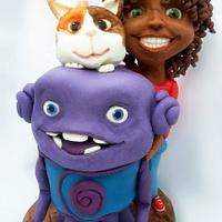 """""""Home"""" animation movie/ sculpted cake"""