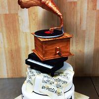 classical musique wedding cake