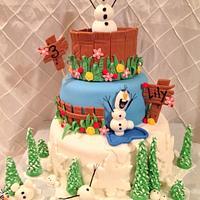 Frozen Movie Cake
