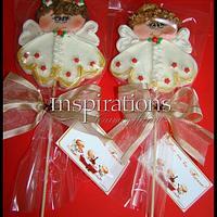 Christmas Angels Marsmallow lollipops