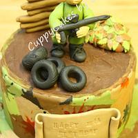 paint balling cake by edda