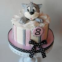 Outstanding Cat Birthdays Cake Cake By Jitkap Cakesdecor Funny Birthday Cards Online Inifodamsfinfo