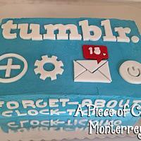 Tumblr Cake for Marijo by Cake Boutique Monterrey