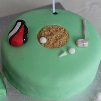 Call of Duty/Golf themed cake and cupcakes! by Sue
