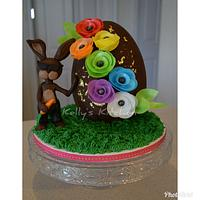 """Cheeky"" Easter/Birthday Cake"