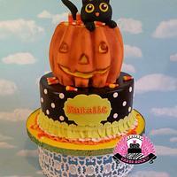 Kitty in a Pumpkin