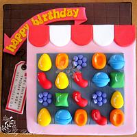 Candy Crush Saga Cake by Paisley Petals Cakes