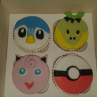 Pokemon cupcakes by Lou Lou's Cakes
