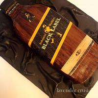johnie walker whisky cake