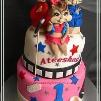Chipmunks: Alvin, Simon & Britany Cake for Ateeshaa ~