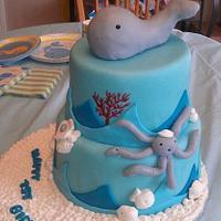 Whale Birthday Cake