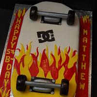 Skateboard on Fire Cake...
