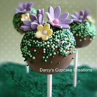 Spring cake pop