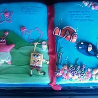 Nemo, Sponge Bob Storybook cake