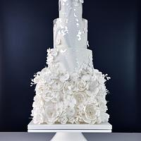 All in White Wedding Cake