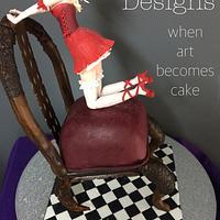 3D chair cake and Japanese Manga/anime sugar figurine