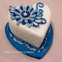 Royal blue kanzashi