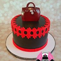 Red & Black with Purse Topper