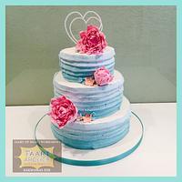 Weddingcake peony and mint