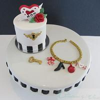 Mother's Day Jewelry Box Mini Cake & Charm Bracelet by Cake Creations by ME - Mayra Estrada