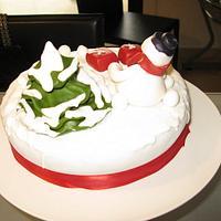 Snowman's cake by Sugar&Spice by NA