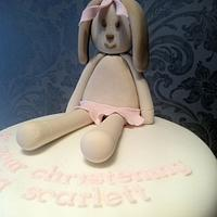 Rabbit Christening Cake