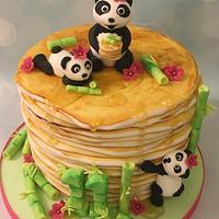 Pancake Panda Cake