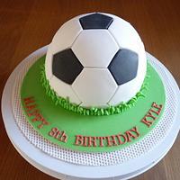 Football Birthday Cake.