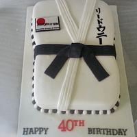 karate 40th birthday cake