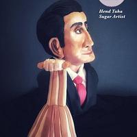 "Farid Al-Attrash ""Gone but Not forgotten"" Collaboration by Hend Taha-HODZI CAKES"