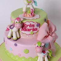 Baptism cake for little Erin