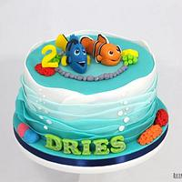 Finding Dory and Nemo cake