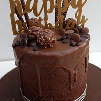 Chocolate drip overload cake