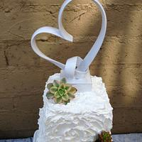 Succulent Wedding Cake by Maria @ RooneyGirl BakeShop