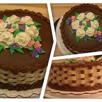My 1st basket weave cake