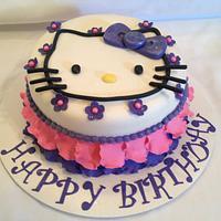 Petal, pinks and purple Hello Kitty