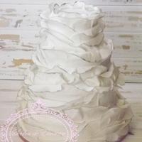 soft ruffle cake