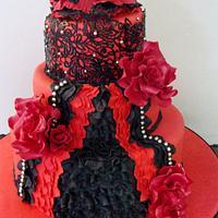 Spanish dancer cake by liesel