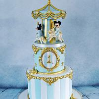 Boys 1st birthday Carousel cake