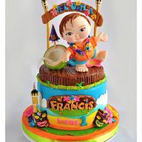 ALOHA Party Cake