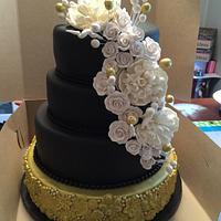 Elegant 50th birthday cake