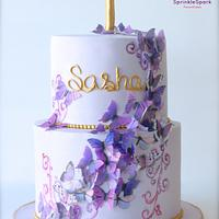 Butterfly Lavender Cake
