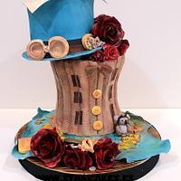 Steampunk First Wedding Anniversary Cake
